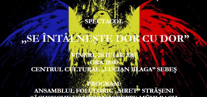 """Centrul Cultural """"Lucian Blaga"""" găzduiește spectacolul """"Se întâlnește dor cu dor"""""""