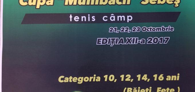 21-23 octombrie 2017, Baza sportivă Arini, Sebeș: Cupa Muhlbach, la TENIS