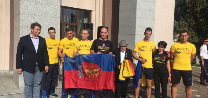 """""""Ștafeta Veteranilor"""" a ajuns și la Sebeș. Reprezentanții INVICTUS au fost întâmpinați de către Primarul Dorin Nistor"""
