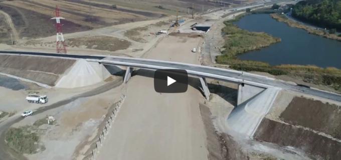 O nouă filmare aeriană absolut spectaculoasă de pe lotul 4 al Autostrăzii A10 Sebeș-Turda