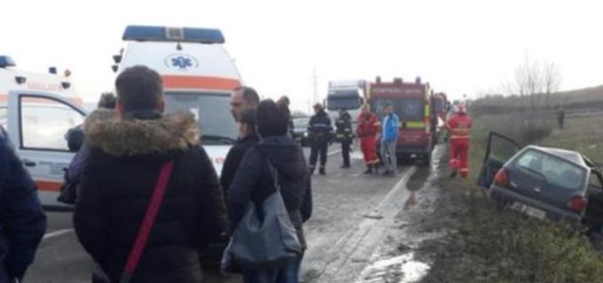 Foto: Accident rutier soldat cu 3 victime lângă Alba