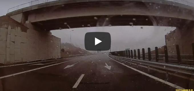 VIDEO: În probă pe Autostrada A10, Sebeș-Turda.