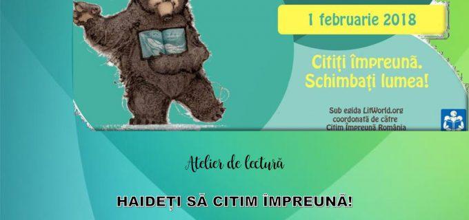 """Biblioteca Municipala """"Lucian Blaga"""" Sebes organizează Atelierul de lectură """"HAIDEȚI SĂ CITIM ÎMPREUNĂ!"""""""