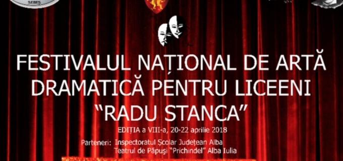 """Sebeș, 20-22 Aprilie 2018: Festivalul Național de Artă Dramatică pentru liceeni """"Radu Stanca"""""""