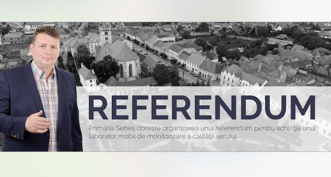 Referendum la Sebeș în data de 27 mai 2018